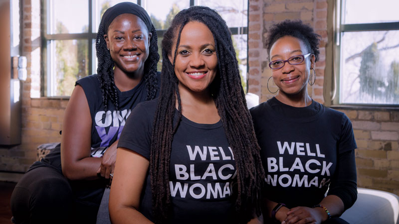 MGE is committed to working with local partners like Lisa Peyton-Caire (center), founder of The Foundation for Black Women's Wellness.