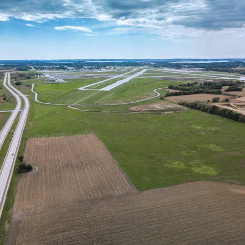 Travelers using Dane County Regional Airport could get a bird's-eye view of up to 8 MW of solar panels.