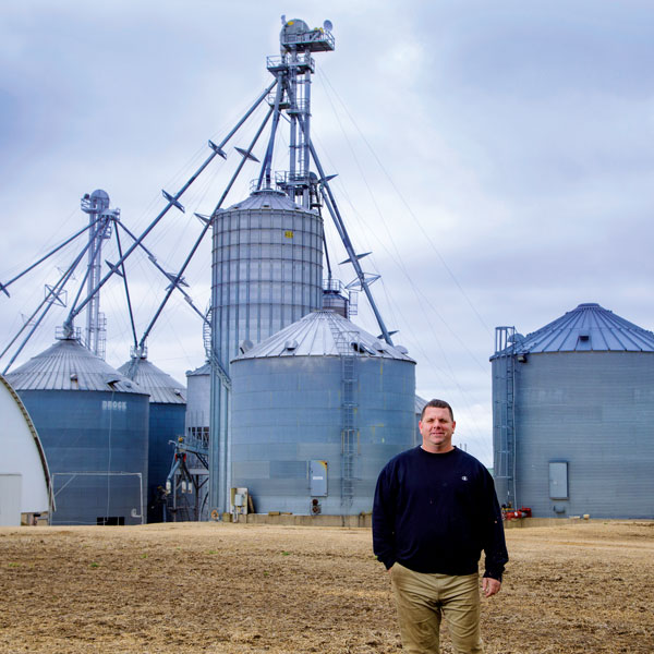 Mark Schroeder farms more than 3,000 acres of soybeans and corn outside of Madison. He switched from propane to natural gas through MGE's gas expansion program.