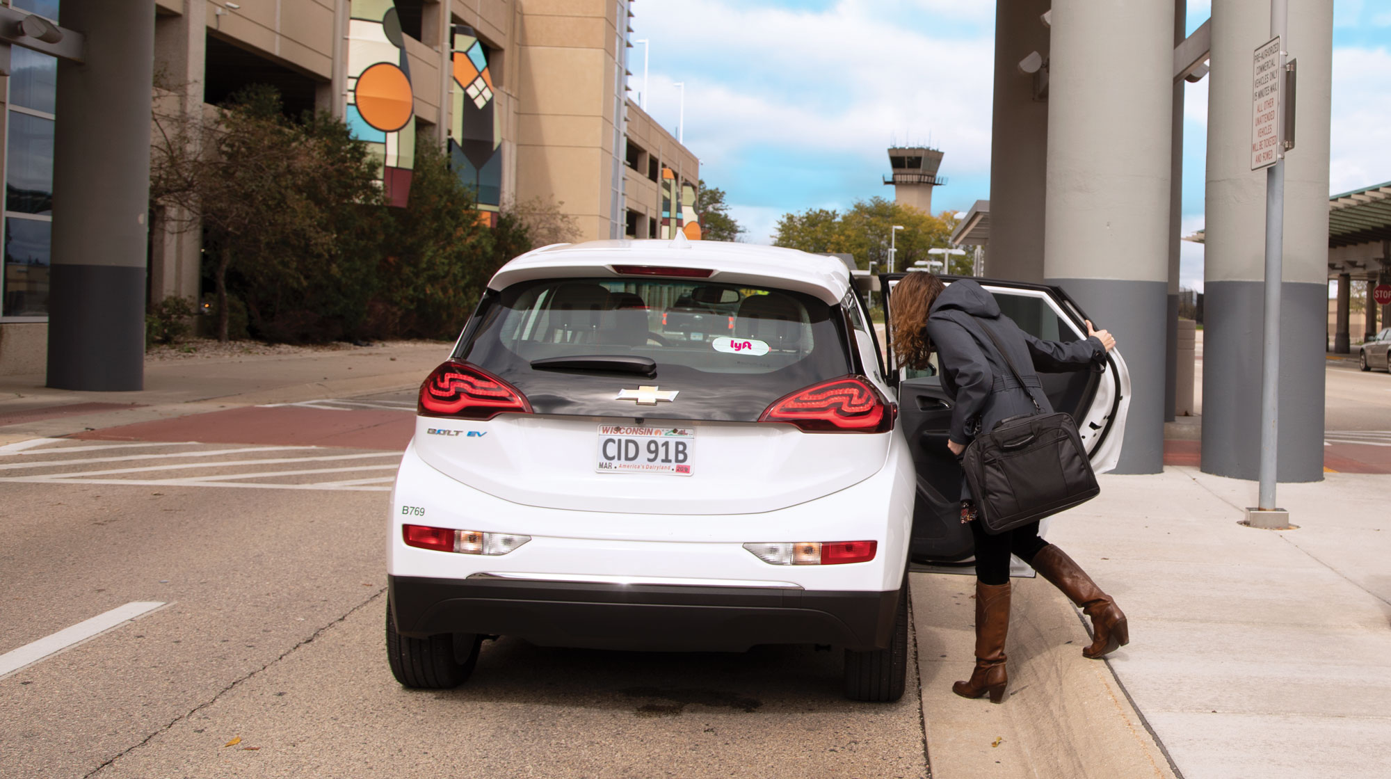 MGE is partnering with the ridesharing company Lyft to grow the use of electric vehicles (EV).