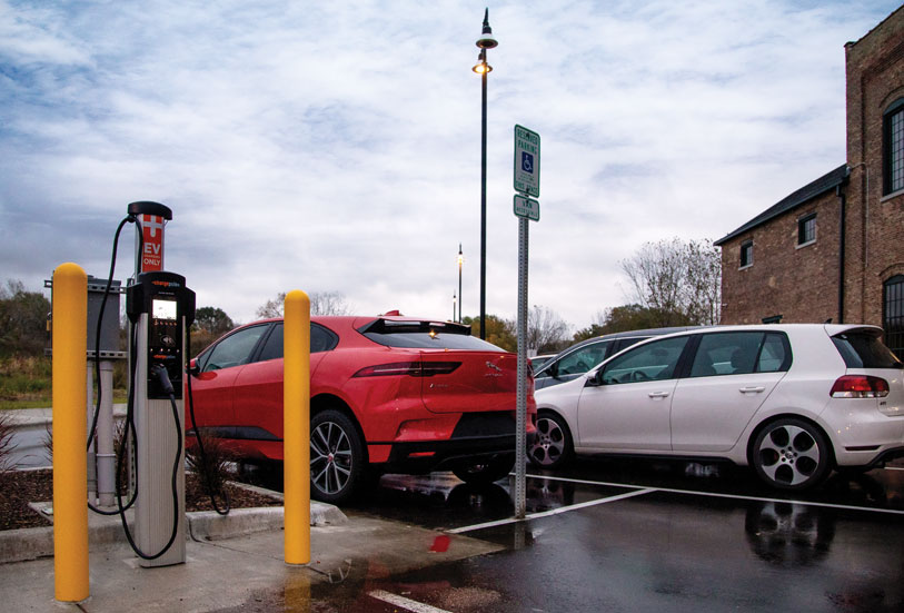 Garver Feed Mill EV charging stations