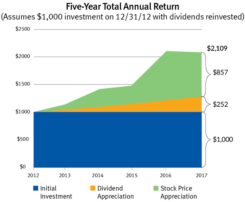 Five-Year Total Annual Return