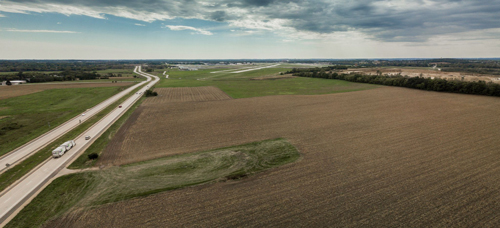 Site of proposed 8-megawatt solar array near Dane County Regional Airport.