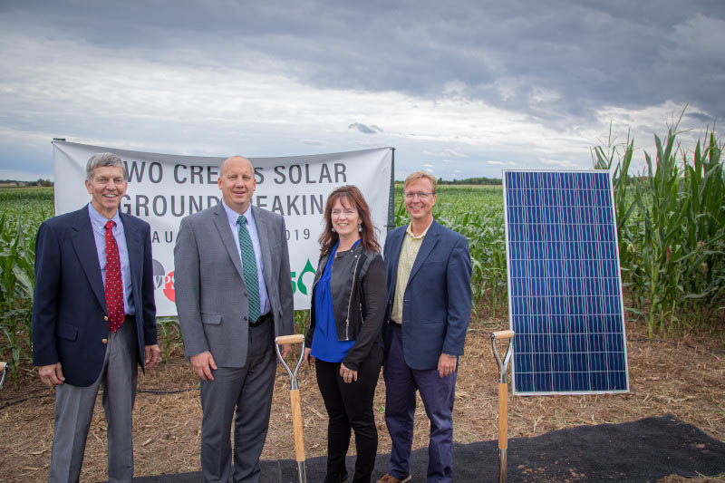Two Creeks Solar Groundbreaking