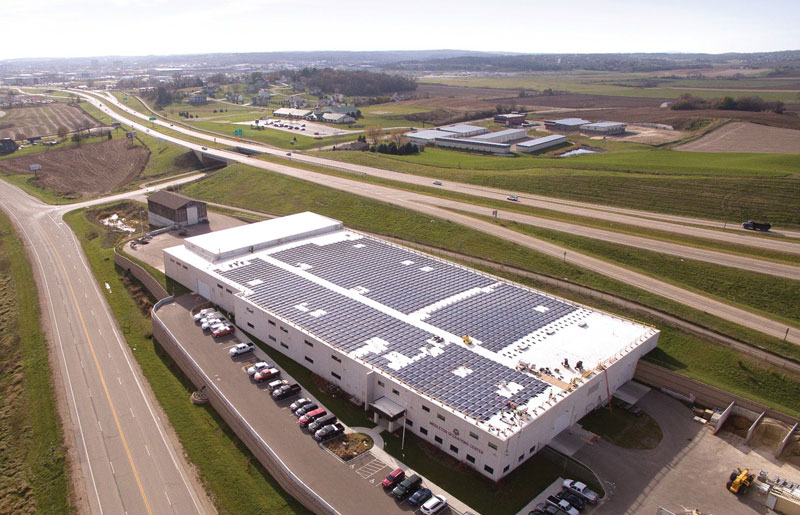 MGE's Shared Solar program began with this 500-kilowatt installation in the City of Middleton.