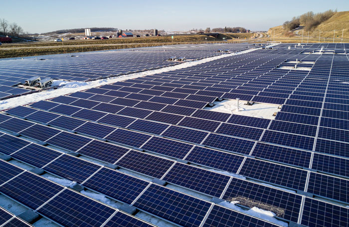 MGE's first Shared Solar installation at Middleton's Municipal Operations Center came online in Jan.